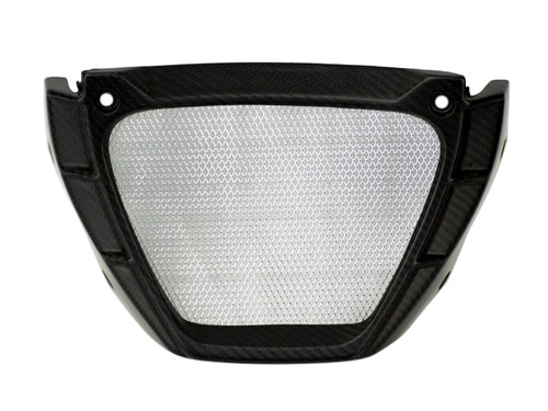 Oil Cooler Surround in Glossy Twill Weave Carbon Fiber for Aprilia Tuono V4