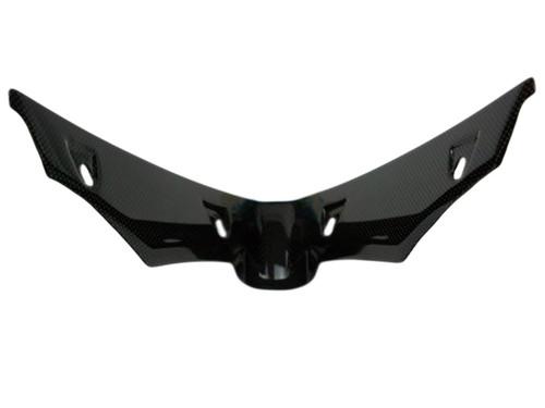 V Piece in Glossy Plain Weave Carbon Fiber for Triumph Daytona 675 2013+