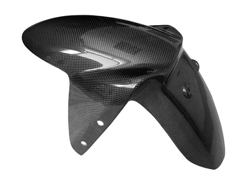 Front Fender for Triumph Speed Triple 1050 05-10 in Glossy Plain Weave Carbon Fiber