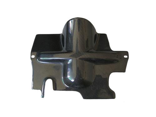 Glossy Plain Weave Carbon Fiber Strut Protector for Triumph Sprint St  05-07
