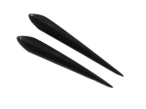 Glossy Plain Weave Carbon Fiber Side Trim Covers for Triumph Sprint St  (short)