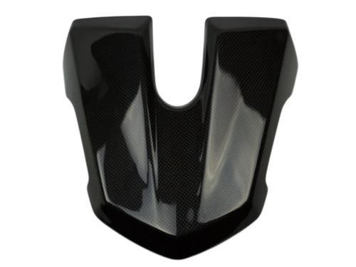 Seat Cowl in Glossy Plain Weave Carbon Fiber for Triumph Street Triple 2013+