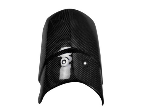Front Fender Extension in Glossy Plain Weave Carbon with Fiberglass for Triumph Tiger 800 2010+