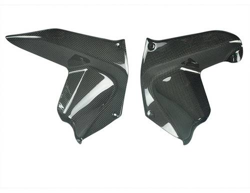 Glossy Plain Weave Carbon Fiber Lower Fairing Air Extractors for Ducati Multistrada 1200