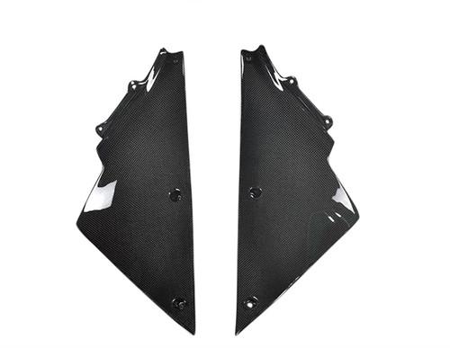 Glossy Plain Weave Carbon Fiber Inner Fairings for Kawasaki ZX14/ZZR1400 06-11