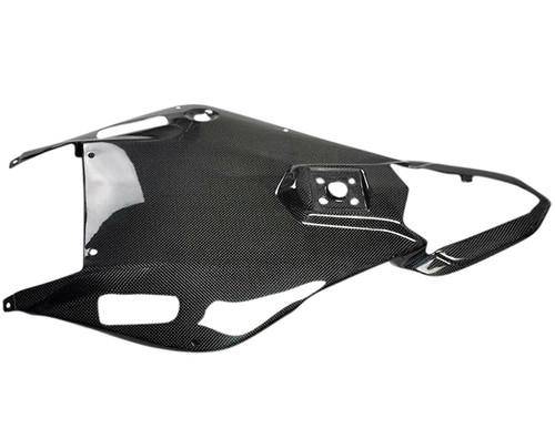 Glossy Plain Weave Carbon Fiber Undertray for Yamaha R6 06-07