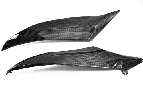 Glossy Plain Weave Carbon Fiber Tank Side Panels for Yamaha R6 06-07