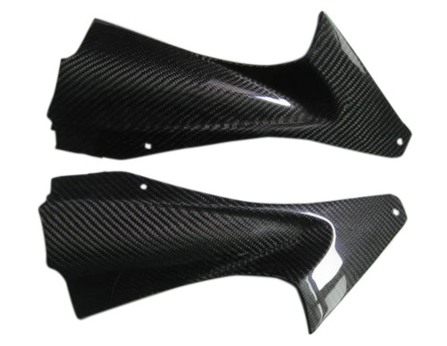 Glossy Twill Weave Carbon Fiber Air Intakes for Yamaha R6 06-07