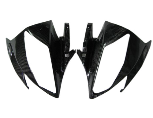 Glossy Twill Weave Carbon Fiber Upper Fairings for Yamaha R6 06-07