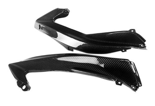 Top Side Fairings in Glossy Twill Weave Carbon Fiber for Yamaha R6 06-07