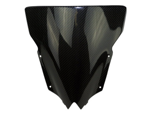 Windscreen in Glossy Twill Weave Carbon Fiber for Yamaha R6 08-16