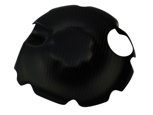 Clutch Cover in Matte Twill Weave Carbon Fiber for Yamaha R6 2006+