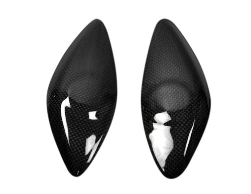 Tank Side Guards in Glossy Plain Weave Carbon Fiber for Yamaha R6 08-16