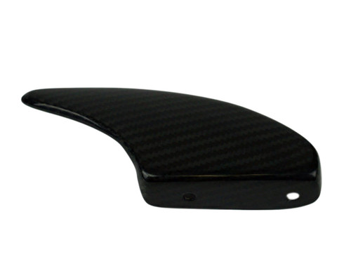 Lower Chain Guard in Glossy Twill Weave Carbon Fiber for Yamaha R6 2008+