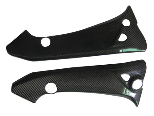 Glossy Twill Weave Carbon Fiber Frame Covers for Suzuki B-King 07-12