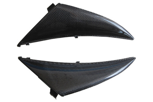 Front Fairing Side Panels in Glossy Plain Weave Carbon Fiber for Yamaha R1 09-14