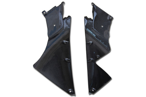 Inner Fairings in Glossy Plain Weave Carbon Fiber for Yamaha R1 09-14