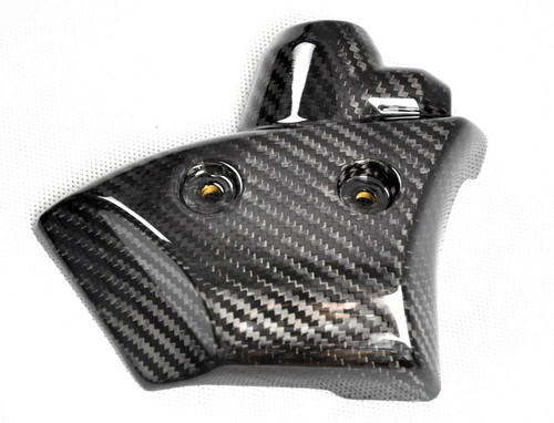 Radiator Reservoir Cover in Glossy Twill Weave Carbon for Yamaha R1 09-14