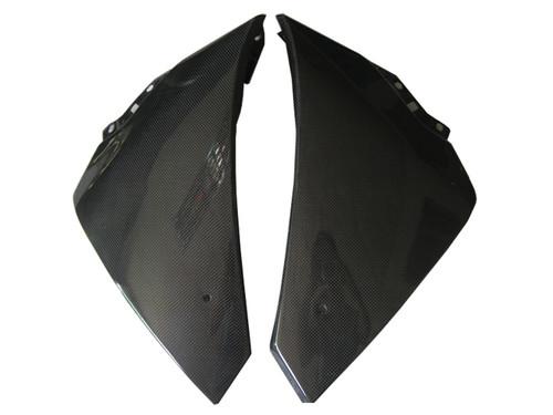 Glossy Plain Weave Carbon Fiber Side Panels (c) for Yamaha R1 09-14