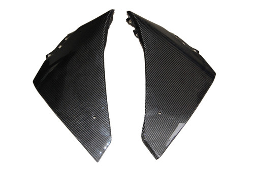 Glossy Twill Weave Carbon Fiber Belly Pan  for Yamaha R1 09-14