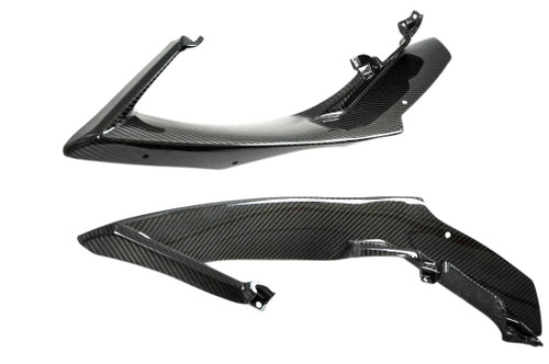 Upper Side Panels in Glossy Twill Weave Carbon Fiber for Yamaha R1 07-08