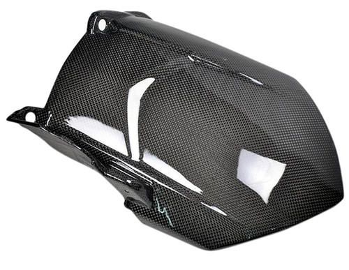Glossy Plain Weave Carbon Fiber Rear Hugger for Yamaha R1 07-08