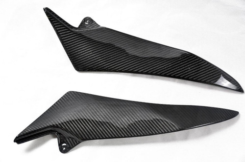 Glossy Twill Weave Carbon Fiber Tank Side Covers for Yamaha R1 07-08