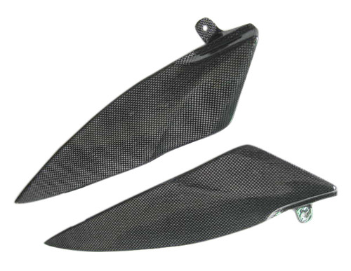 Glossy Plain Weave Carbon Fiber Tank Side Covers for Yamaha R1 07-08