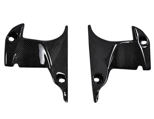 Glossy Plain Weave Carbon Fiber Ram Air Front Covers for Yamaha R1 07-08