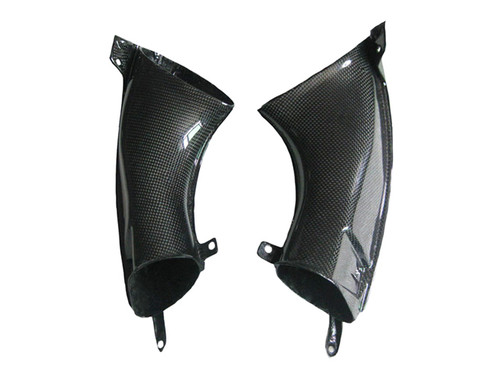 Glossy Plain Weave Carbon Fiber Air Ducts for Yamaha R1 07-08