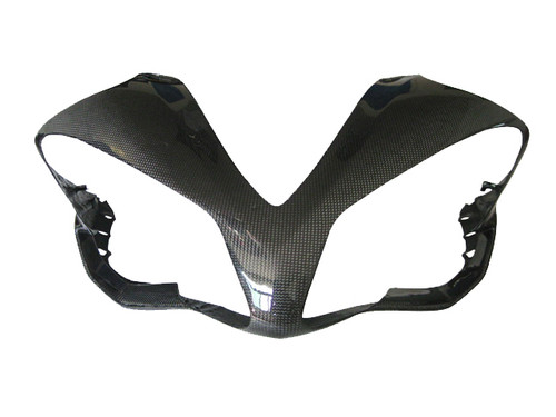 Glossy Plain Weave Carbon Fiber Front Fairing for Yamaha R1 07-08