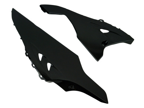 Belly Pan in Glossy Twill Weave Carbon Fiber for Suzuki GSXR 1000 09-16