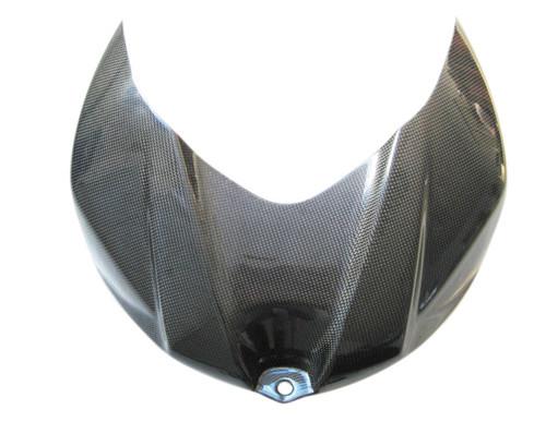 Glossy Plain Weave Carbon Fiber Tank Cover for Suzuki GSXR 1000 07-08