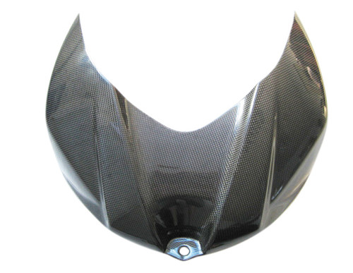 Glossy Plain Weave Carbon Fiber Tank Cover for Suzuki GSXR 1000 07-08