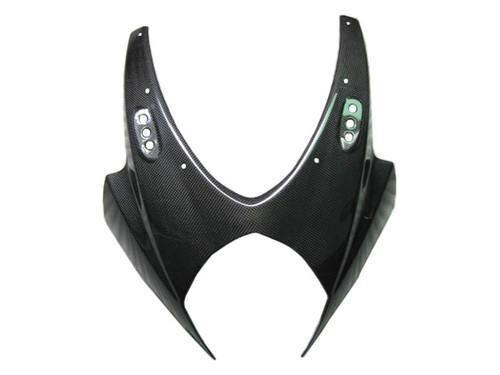 Upper Front Fairing in Glossy Plain Weave Carbon Fiber for Suzuki GSXR 1000 07-08
