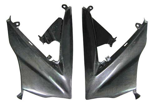 Glossy Plain Weave Carbon Fiber Lower Front Fairings for Suzuki GSXR 1000 07-08