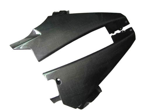 Glossy Plain Weave Carbon Fiber  Lower Fairings for Suzuki GSXR 1000 07-08