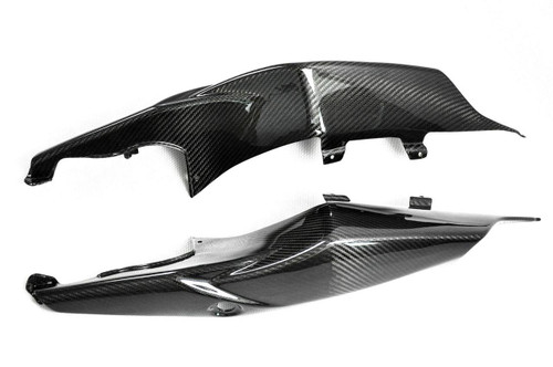 Glossy Twill Weave Carbon Fiber  Seat Section Sides for Suzuki GSXR 1000 07-08