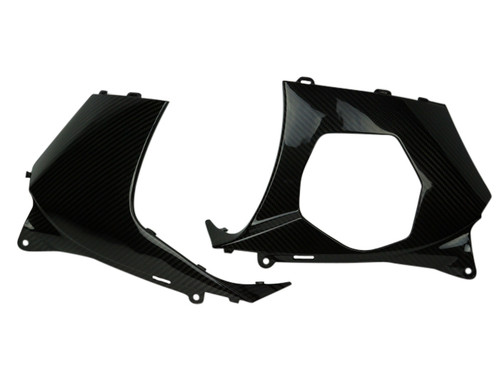 Lower Panel Set in Glossy Twill Weave Carbon Fiber for Suzuki GSXR 1000 07-08