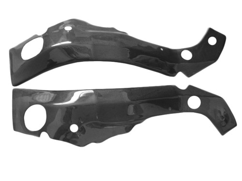 Glossy Plain Weave Carbon Fiber  Frame Covers for Suzuki GSXR 1000 05-06