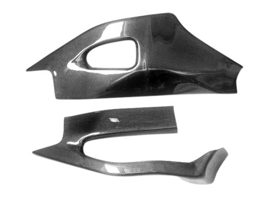 Glossy Plain Weave Carbon Fiber Swingarm Covers for Suzuki GSXR 1000 05-06