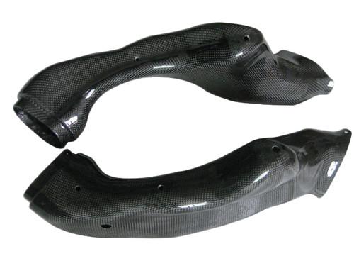 Glossy Plain Weave Carbon Fiber  Ram Airtakes for Suzuki GSXR 1000 05-06