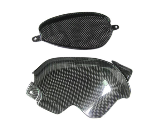 Glossy Plain Weave Carbon Fiber  Tail Fairingserts for Suzuki GSX1300 R  Hayabusa 99-07