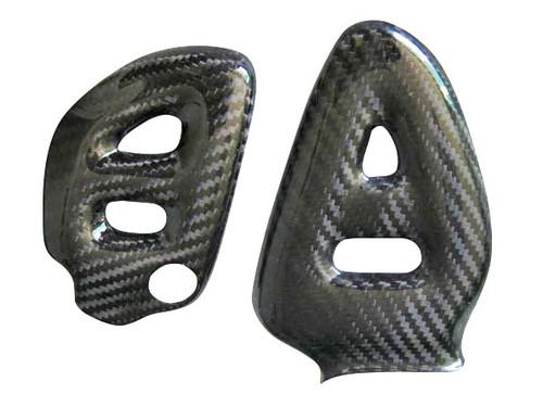 Glossy Twill Weave Carbon Fiber  Heel Plates for Suzuki GSX1300 R  Hayabusa 1999-2007
