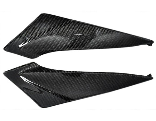 Glossy Twill Weave Carbon Fiber Under Tank Panels for Suzuki  GSXR 600, GSXR 750  2011-2019