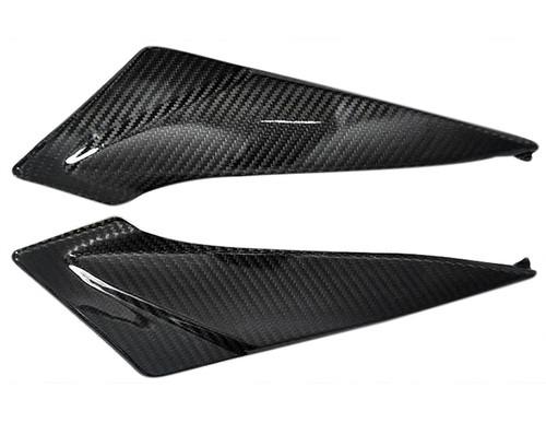 Glossy Twill Weave Carbon Fiber Under Tank Panels for Suzuki  GSXR 600, GSXR 750  2011-2019