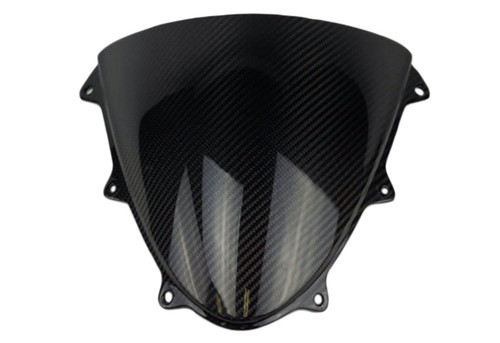 Windscreen in Glossy Twill Weave Carbon Fiber for Suzuki GSXR 600, GSXR 750 2011-2019