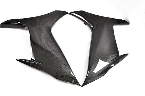 Glossy Plain Weave Carbon Fiber  Side Panels for Suzuki  GSXR 600, GSXR 750  2011-2019