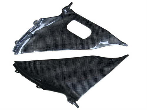 Inner Fairings for Suzuki  GSXR 600, GSXR 750  2008-2010 in Glossy Plain Weave Carbon Fiber