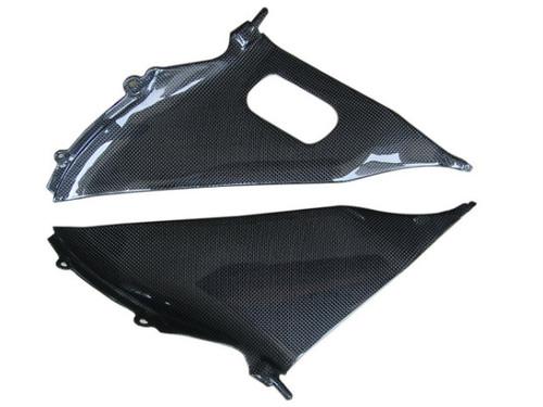 Inner Fairings for Suzuki  GSXR 600, GSXR 750  2008-2010 in Glossy Plain Weave Carbon Fiber